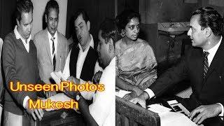 Watch Rare and Unseen photo collection of Legendary Bollywood Singer Mukesh