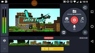 Como fazer intro com kinemaster /download na descrição (Replay Gamer)