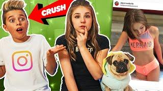 My Crush REACTS To Old INSTAGRAM PHOTOS **FUNNY** ???? ????| Piper Rockelle
