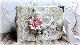 Cardstock mini album using digital images - Lace Boutique 1 Collab