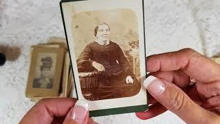 Show & Tell My Vintage photo collection part 1 . Cdv's and cabinet card photos.