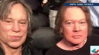 Foto de Axl Rose y Mickey Rourke causa polémica en redes