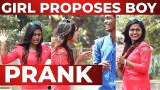 CUTE Girl Proposing to Boys in Public   Valentine's Day Prank   Chennai Prank 2019