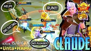 Claude Perfect Gameplay | Top Global Claude | Claude Gameplay & Build | Claude Golden Bullet | MLBB