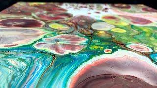 Acrylic pouring - The remains - Random Fluid Painting