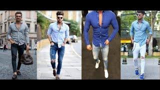Latest Men's One Colour Shirt With Jeans Pants 2018 | Man's Daily Outfit Style 2018 | PBL