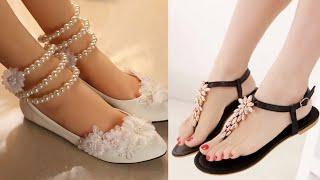Daily Wear Flat Sandal Design Images/Photos | Beautiful Flat Sandal Collection | New Flat Sandal