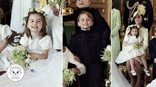 Adorable George and Charlotte Pose at Their Uncle's Official Wedding Photos