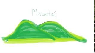 Drawing for Kids | mountain | Picture coloring rush news