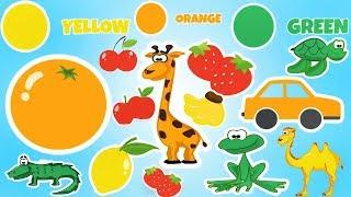 Learn Colors with Animals - Fruits and Vegetables Puzzle | Best Educational Video for Children