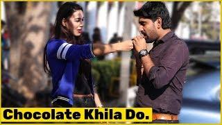 Chocolate Khila Do Prank on Cute Girls | The HunGama Films