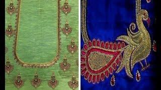 Beautiful Blouse Neck Designs For Silk Saree Diwali Collection 2018 | Blouse Designs For Silk  Saree