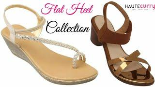 HAUTE CURRY NEW LATEST CASUAL FLAT HEEL IMAGE/PICTURES/PHOTO,FANCY SANDALS COLLECTION 2019