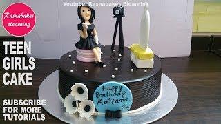 Birthday cake design for teenage girl:Happy birthday cake ideas women:3D fondant cake pics