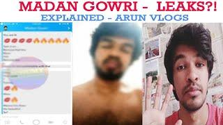 Madan Gowri Private Chat Explained By Arun Vlogs | Madan Gowri Snapchat |18+ Video|