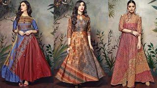 WOW ! Traditional Gown design images collection | New Gown dress picture | Latest Kurti design photo