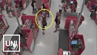 Cams Capture Dad Tackling Man Taking Pics Under Women's Skirts