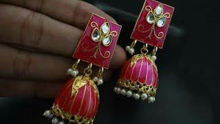 Kundan Work Earrings Design Collection | images | photo |jaypuri jewellery |