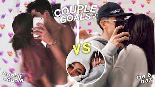 we tried recreating famous tumblr couple photos ft my girl friend