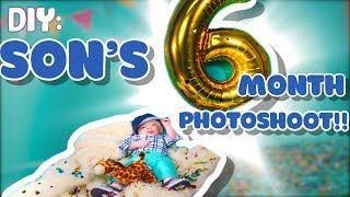 EASY DIY 6 MONTH BABY PHOTO SHOOT | GLAMOUR FAMILY