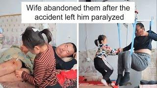 Six year Old Girl Cares For Paralyzed Father All Alone, After Her Mom Abandoned Them