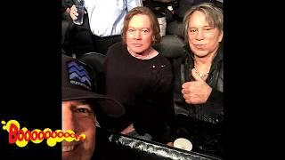 AXL ROSE & MICKEY ROURKE/ SHOCKING PICTURE CELEBRITIES/ VIRAL REACTION