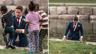 This Groom Leapt Into a River During the Wedding Photos and His Bride Was Aghast When She Saw Why