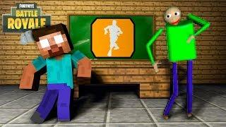 Monster School : FORTNITE DANCE challenge & Baldi's Basics - Minecraft Animation