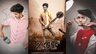 KGF MOVIE POSTER PHOTO EDITING TUTORIAL 2019 | NEW VIRAL CONCEPT PHOTO EDITING