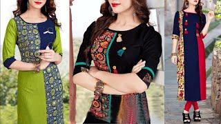 Regular wear kurti design images collection | New gown dress pictures | Fancy kurti design photos