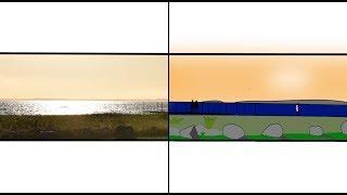 Tegner et av mine EGNE bilder|Solnedgang i Danmark