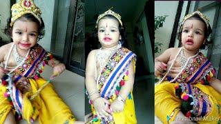 #Little Krishna/cute baby Krishna/How to decorate baby as kanha on krishnaJanmashtami/krishnajayanti