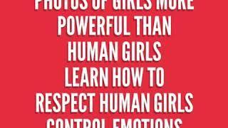 Photo girls and human girls