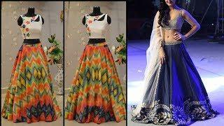 WOW ! Latest Crop Top Skirt Design Images / Photos Collection | New Fashion Dress Design Pictures