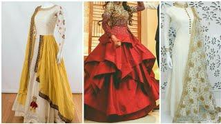 Beautiful kurty designs latest marrige gouns bridal lehanga suits ladies wedding
