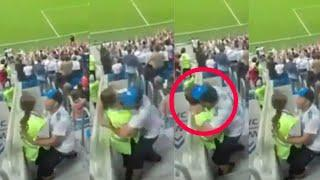 Fan Boy Kiss Cute Security Girl At Gallery | World Cup Russia 2018