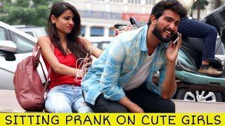 Sitting Prank On Cute Girls | Prank Star