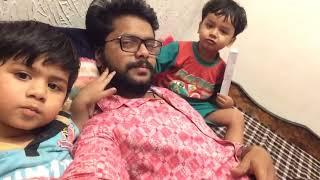 Funny video with two cute baby