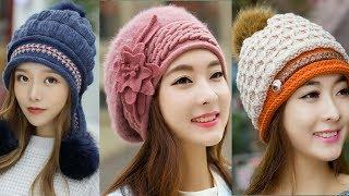 New stylish wool caps ll so pretty designs for girls ll photo collection images design ll Fashion