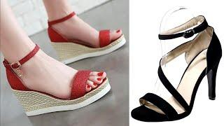 Women's Flat sandals design collection 2018 || Latest Fancy Sandals Images / photo