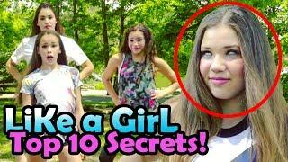 ???? Haschak Sisters LIKE A GIRL Top 10 SECRETS REVEALED! ???? w/ Gracie,Sierra,Olivia,Madison ????