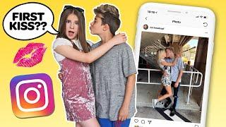 Recreating Famous INSTAGRAM COUPLES Photos CHALLENGE **FIRST KISS** ????????| Piper Rockelle