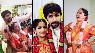 Actress Jahnavi (Mahathalli) Wedding And Reception || Special Moments || Full Gallery ||