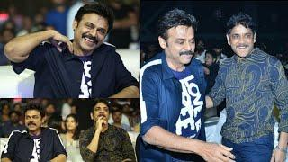 Akkineni Nagarjuna and Venkatesh Dagguabati Photos at Majili Pre Release Event