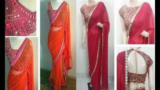 Top 20 Blouse Designs For Lace Work Sarees Collection