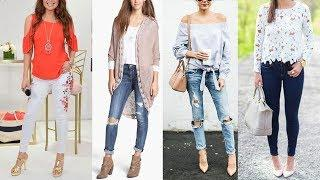 Fancy Jeans Top Design Images / Photos Collection | Latest Stylish Top For Women