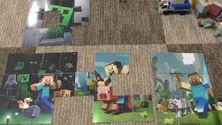 Sfida Il Puzzle Adesivo Mine Craft! Puzzle Adesivo Minecraft Hd 2018