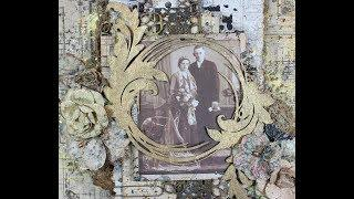 """Ancestry"" Mixed Media Vintage Page for Creative Embellishments"
