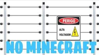 Como fazer cerca elétrica no Minecraft!!