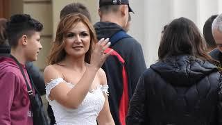 Lady in White -City centre Subotica 1 Oct 2018
